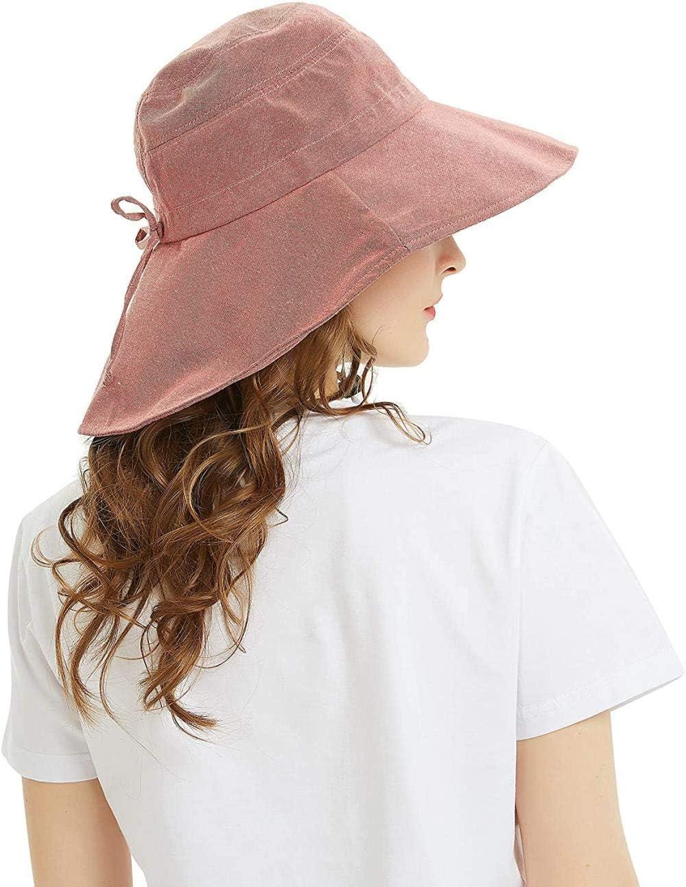 DBN Womens Sun Hat Foldable UV Protection Fishing Hat Wide Brim Safari Bucket Hat 101/_grey