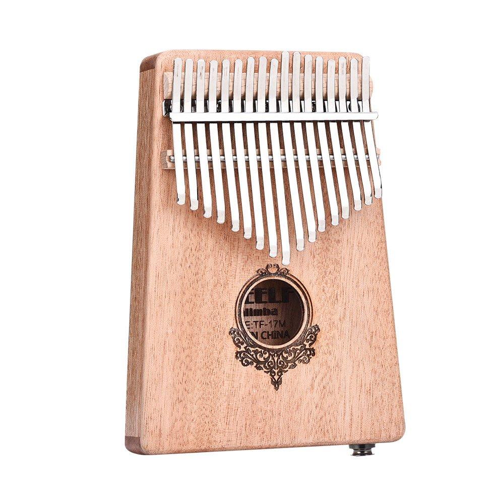 17 Tone Mahogany Thumb Piano Kalimba Thumb Piano for Beginners and It can be Con wlgreatsp