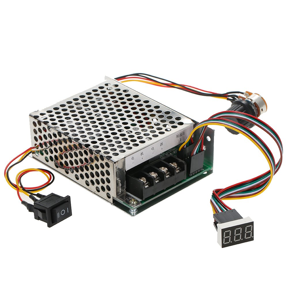 Docooler 0~100% Adjustable 12V24V36V 60A DC Motor Speed Controller Speed Regulator Reversible