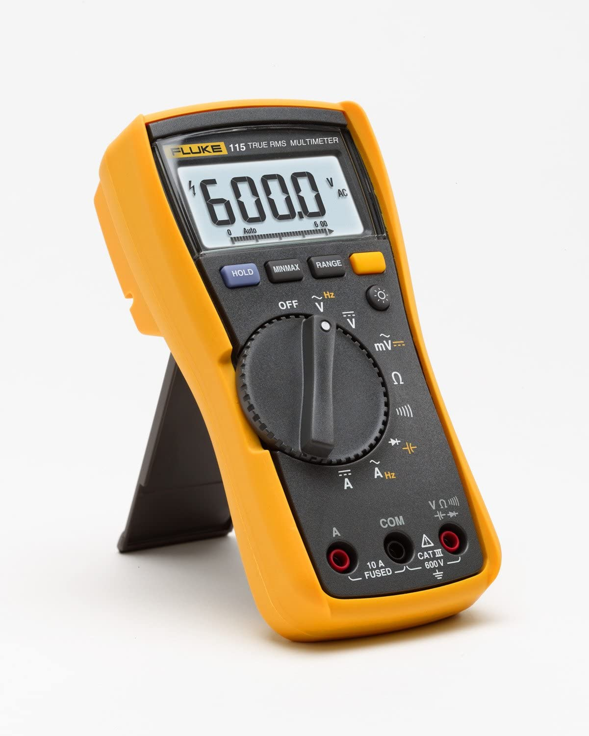 Fluke 115 Compact True-RMS Digital Multimeter with Polyester Carrying Case