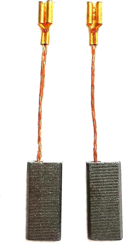 2 Moteur Carbone Charbon Balais Pour Bosch 1607014116