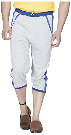 Demokrazy Men's Regular Fit Capri Men's Casual Trousers at amazon