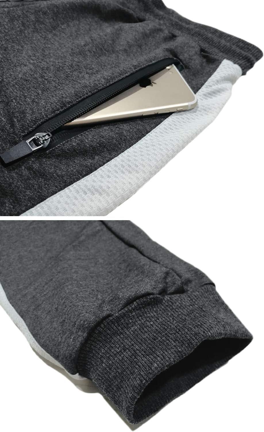 TACVASEN Pantalones de ch/ándal de algod/ón para Hombre Pantalones Deportivos con Bolsillos