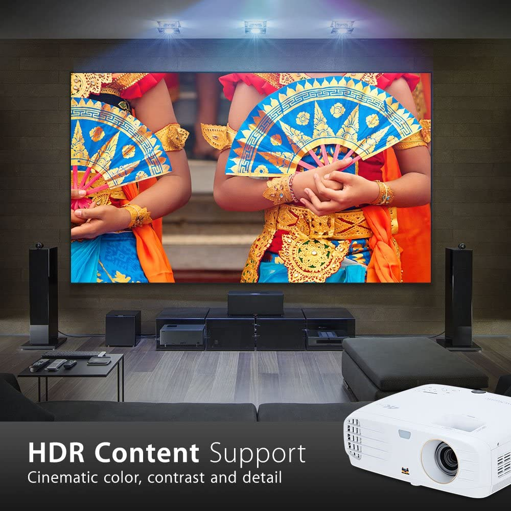 Viewsonic Px747 4k Ultra Hd 4k Home Cinema And Gaming Projector 3500 Lumens 2160p Dlp Dual Hdmi Hdr Compatible 3x Fast Input Supercolor Technology 10w Speakers White Amazon Co Uk Tv