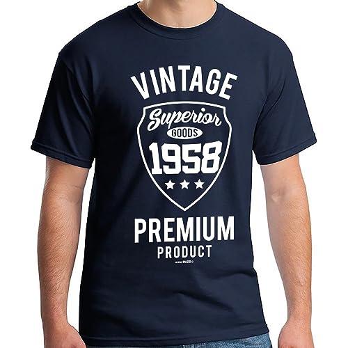 60th Birthday Gifts For Men Vintage Premium 1958 T Shirt