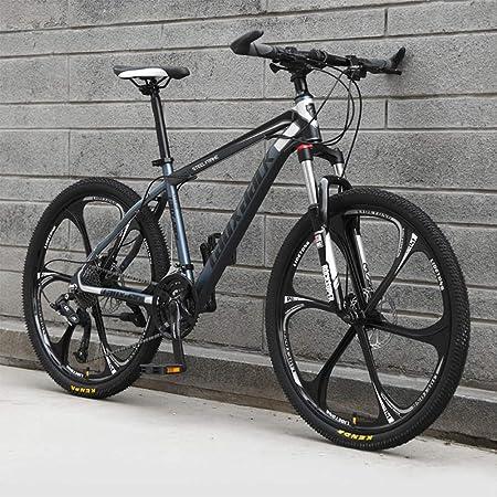 Ruedas de 6 radios Bicicletas de montaña Hidráulico doble freno de disco Bicicleta de montaña Estudiantes masculinos y femeninos Bicicleta de carretera Rueda de 26 pulgadas MTB,Black & grey,27 Speed: Amazon.es: Hogar