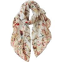 GERINLY Floral Birds Scarf Lightweight Wrap Shawl for Women
