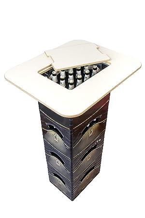 Mesa alta para cajas de cervezas Bikati®, para cajas estrechas y anchas, con