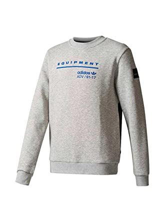 eea8f56ab adidas Sweater - J Eqt Fl grey black blue size  153-158 cm tall - 12 to 13  years  Amazon.co.uk  Clothing