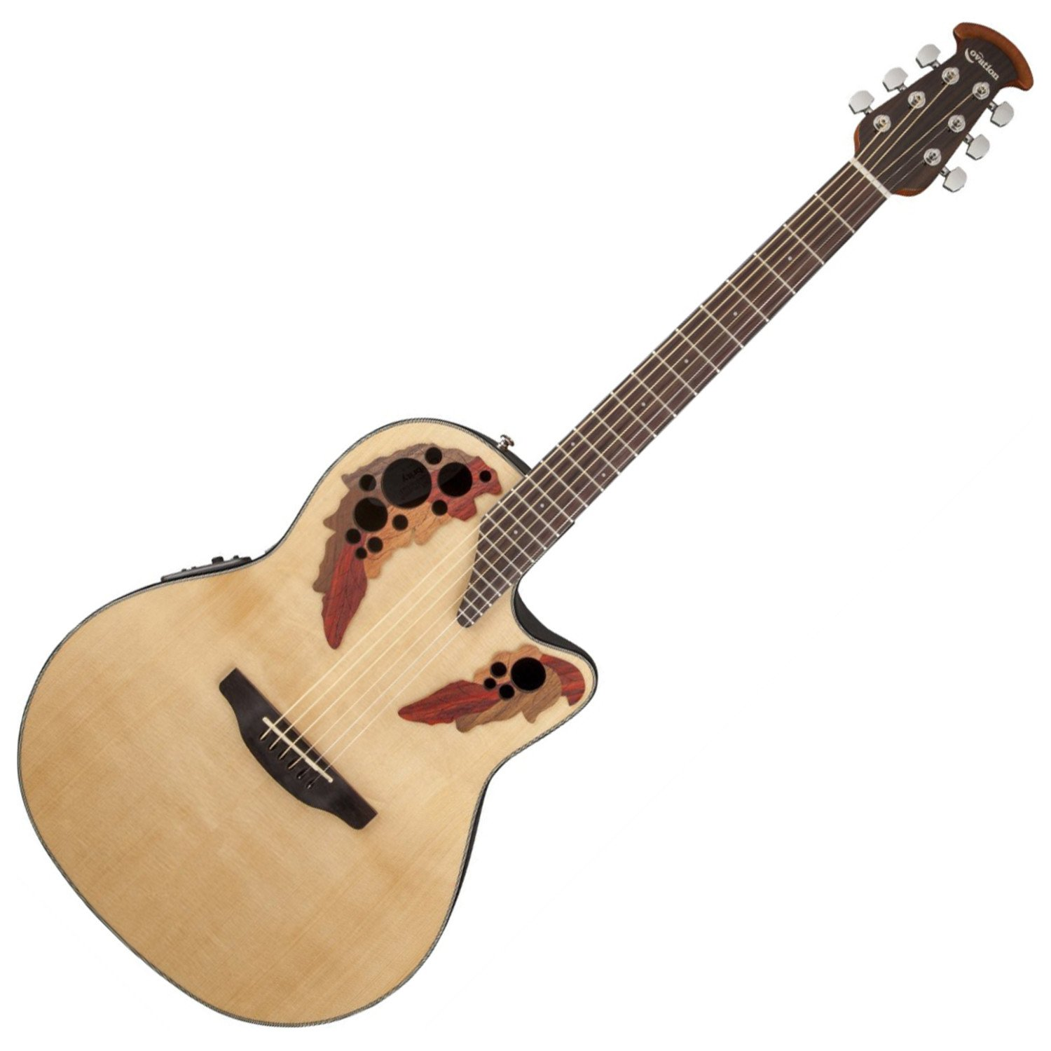 Ovation CE44-4 Acoustic-Electric Guitar, Natural by Ovation