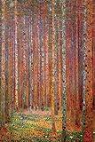 Laminated Tannenwald Poster by Gustav Klimt 24 x 36in