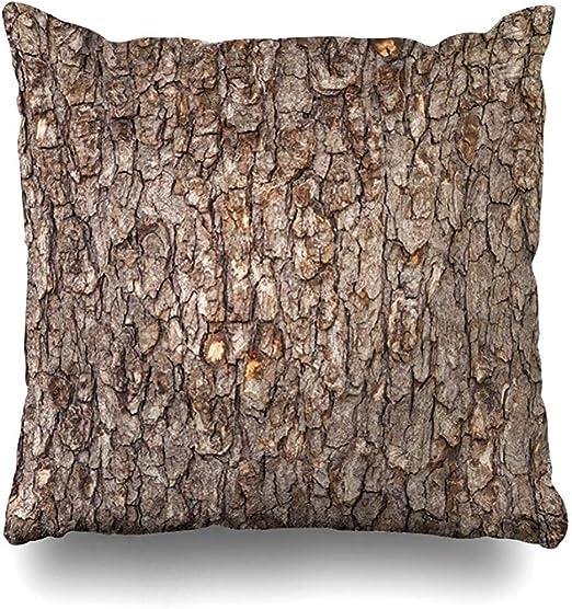 BK Creativity Cushion Cover,Envejecimiento Beige Pino Corteza Marrón Enlosables Protección Naturaleza Tronco Patrón De Madera Resistido Resumen Funda De Cojín 50x50cm: Amazon.es: Hogar
