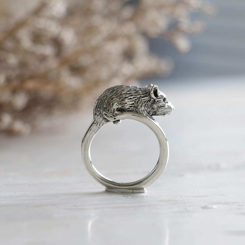 Rat Year V2 Sterling Silver Ring