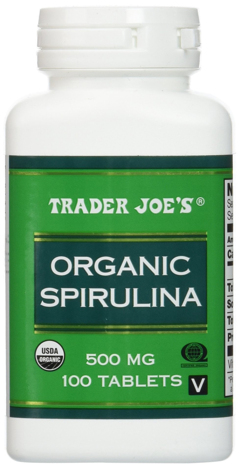 Trader Joe's Organic Spirulina 500mg, 100tablets