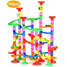 Queta Marble Run Race Coaster Set,109pcs Railway Construction Toys Building Blocks, Educational Learning Maze Toys for Kids 4, 5, 6 Years Old and Up