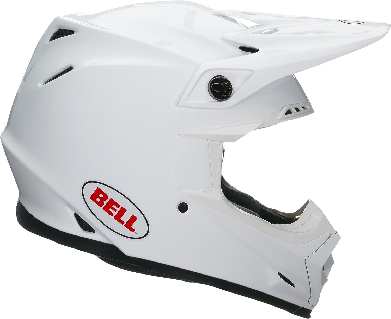 """Moto Helmets/® X86 /""""Racing Matt White/"""" /· Integral-Helm /· Full-Face Motorrad-Helm Roller-Helm Cruiser /· ECE Visier Schnellverschluss Tasche XL 61-62cm"""