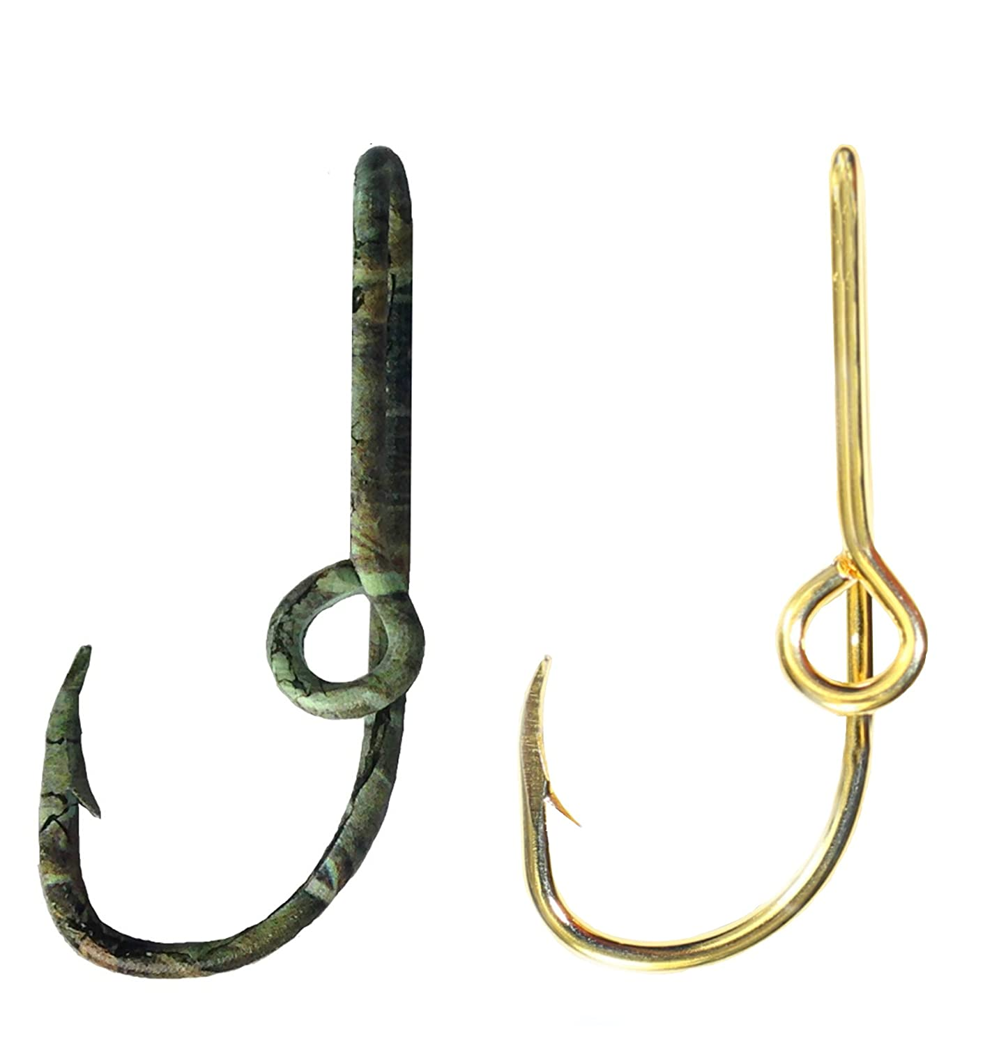 47a4c2c6a619 Amazon.com : BT Outdoors Two Fish Hook Hat Pins Camo and Gold Hat Hook Fish  Hook for Hat Camo Fish Hook Clip- Set of Two Hooks one Camo and one Gold ...
