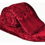 Cloth Fusion Celerrio Mink Single Bed Blanket For Winter-Maroon