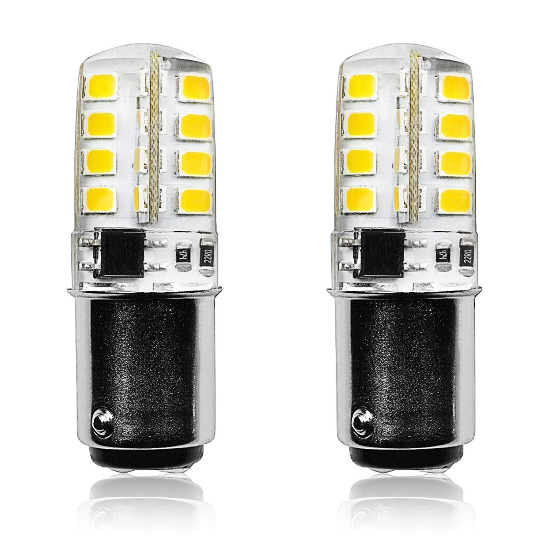 Luxrite BA15D LED電球 3W 120V 40W相当 ダブルコンタクトバヨネット電球 2700K 温白色 200ルーメン ミシン用 シーリングファン デスクランプ ペンダント照明 2個パック   B07M9Z7JFY