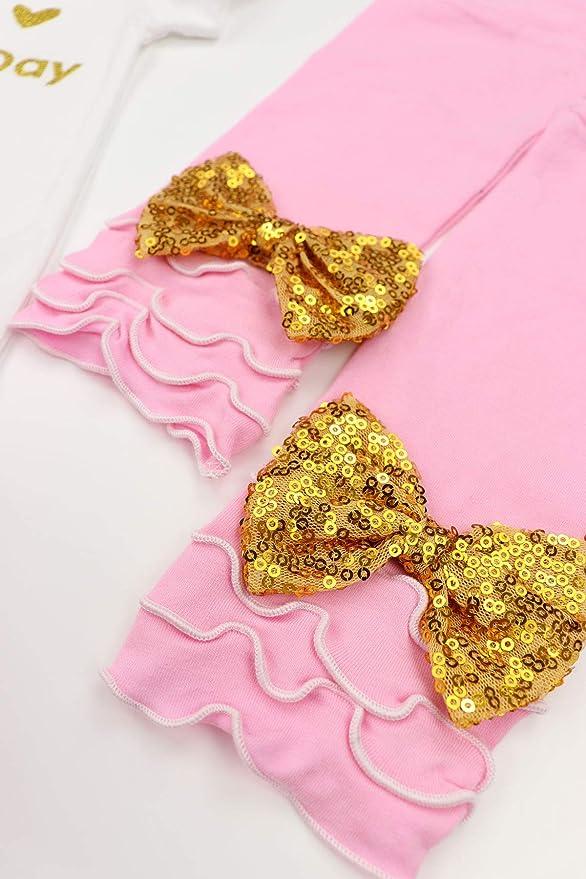 Amazon.com: Vestido corto para bebés y niñas, 4 piezas, para ...