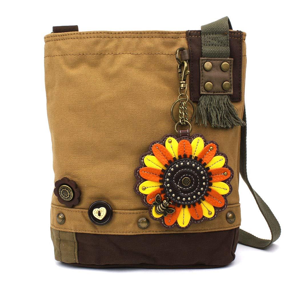 Sunflower Brown Chala Patch CrossBody Women Handbag Canvas Messenger Bag