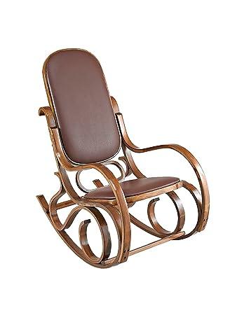 Bugholz Antik Stil Schaukelstuhl Lounge Stuhl Sessel Holz Braun