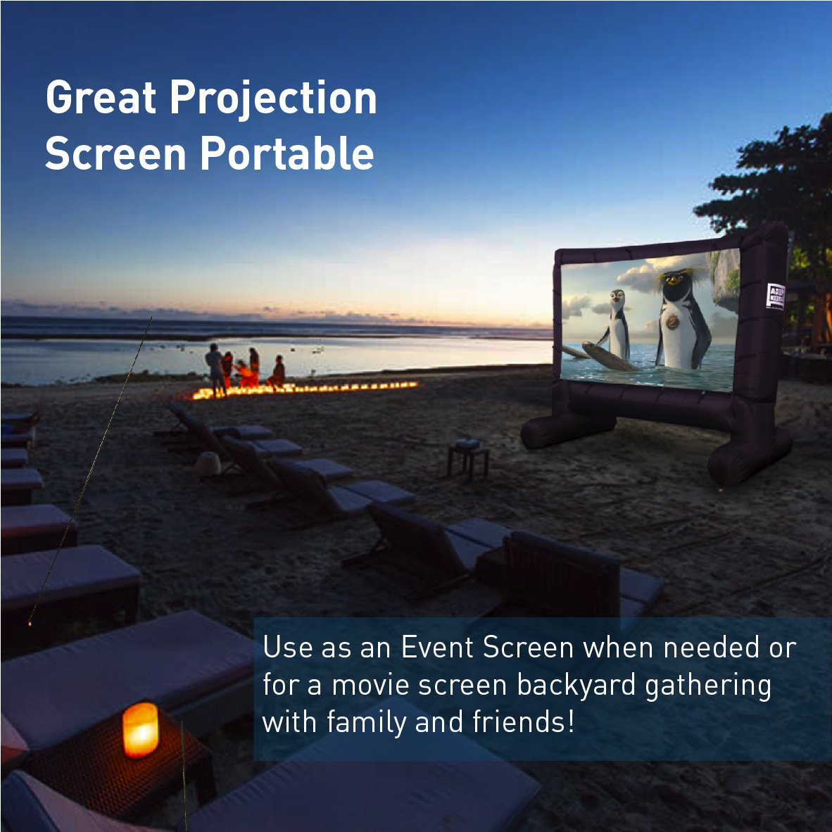 amazon com easygoproducts mega screen movie screen office products