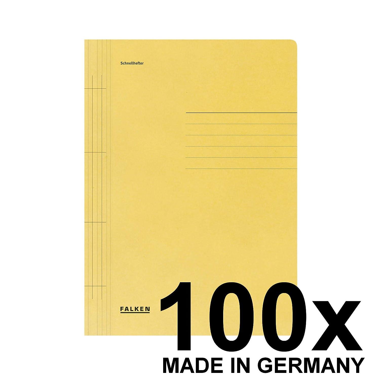 FALKEN rápido grapadora grapadora grapadora reciclado para DIN A4, paquete de 100, color amarillo 100er d0b250