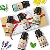 Janolia Huiles Essentielles Naturelles, 6×10ml Huile Essentielle Bio, Aromathérapie Humidificateurs Oils, 100% Pures et Naturelles Ingrédients, Therapeutic Grade Essential Oils