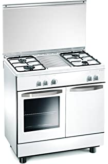 cucina a gas 80x50x85 cm bianca 4 fuochi con forno a gas regal re7252w