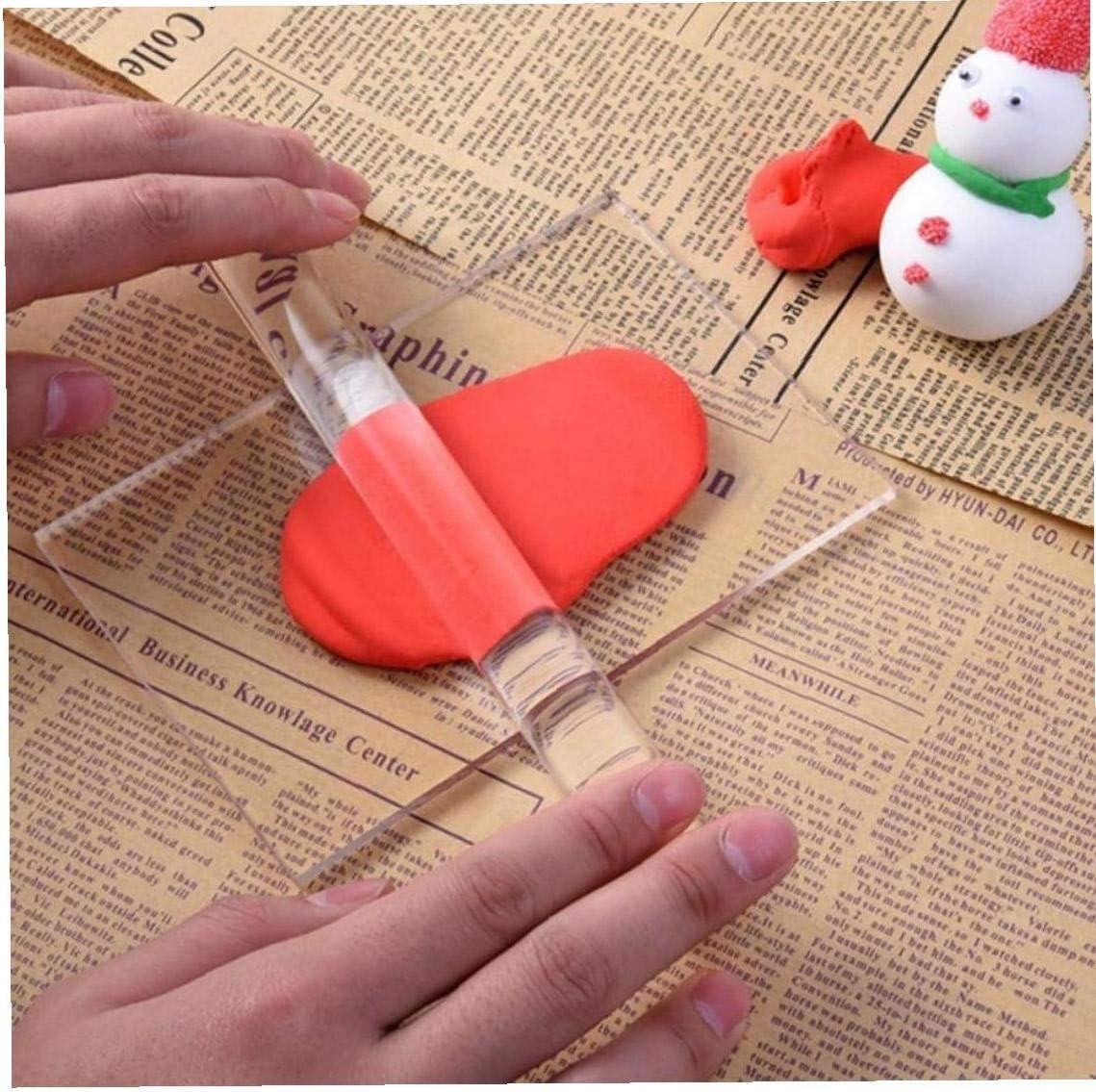 PiniceCore DIY Creux Acrylique Rouleau Sculpey Argile Polym/ère Craft Moulage Polym/ère De Roulement Outils dargile
