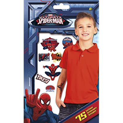 Trends International Ultimate Spider-Man Tattoo Bag 75 Ct: Toys & Games