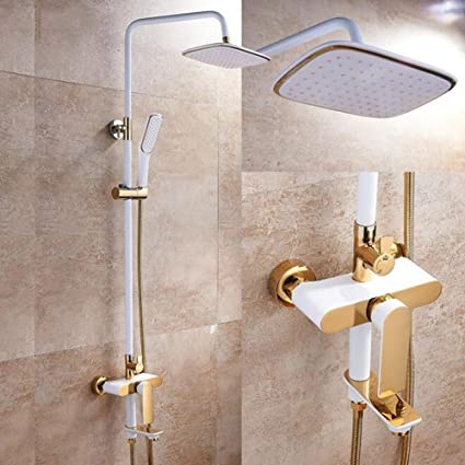 Shower Mixer Bathroom Rain Mixer Shower Combo Set Shower System Include Luxury  Bath Rainfall Shower Head