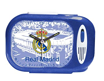 Seva Import Himno Real Madrid 706079 Despertador Rectangular Color negro única 9102020: Amazon.es: Deportes y aire libre