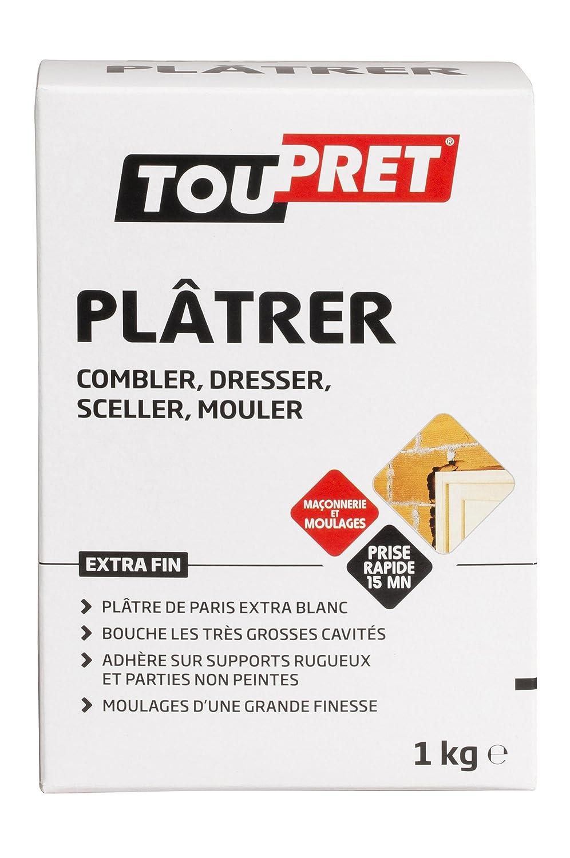 Toupret 320010 Plâtre De Paris 1 Kg