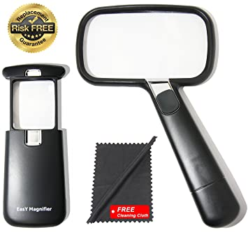 Pocket Magnifying Glass 3X An Elderly Assistant Product For Seniors Helpful 50th 60th 70th Birthday