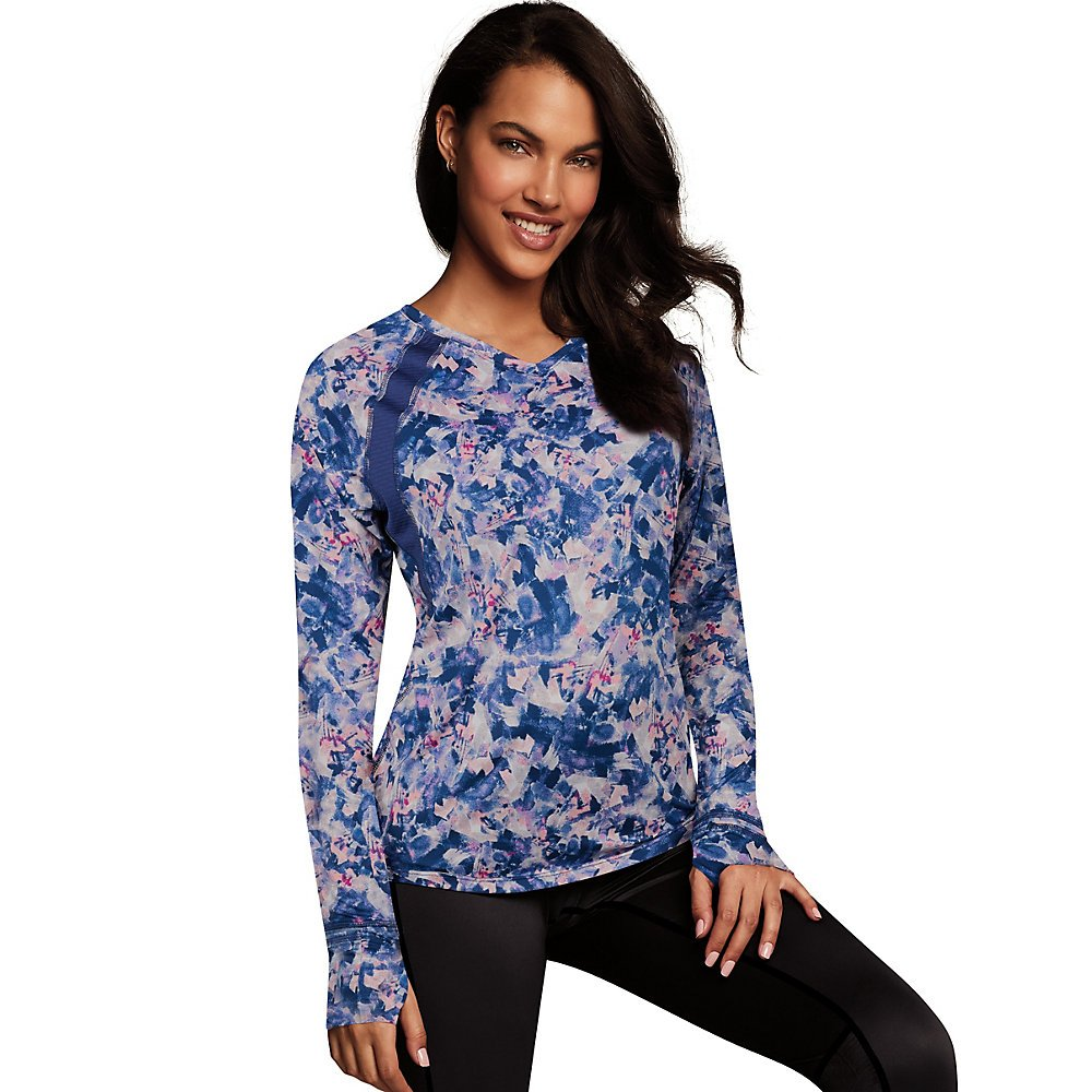 Maidenform SHIRT レディース B077S2YW37 3L|Painterly Wash Print/Navy Painterly Wash Print/Navy 3L