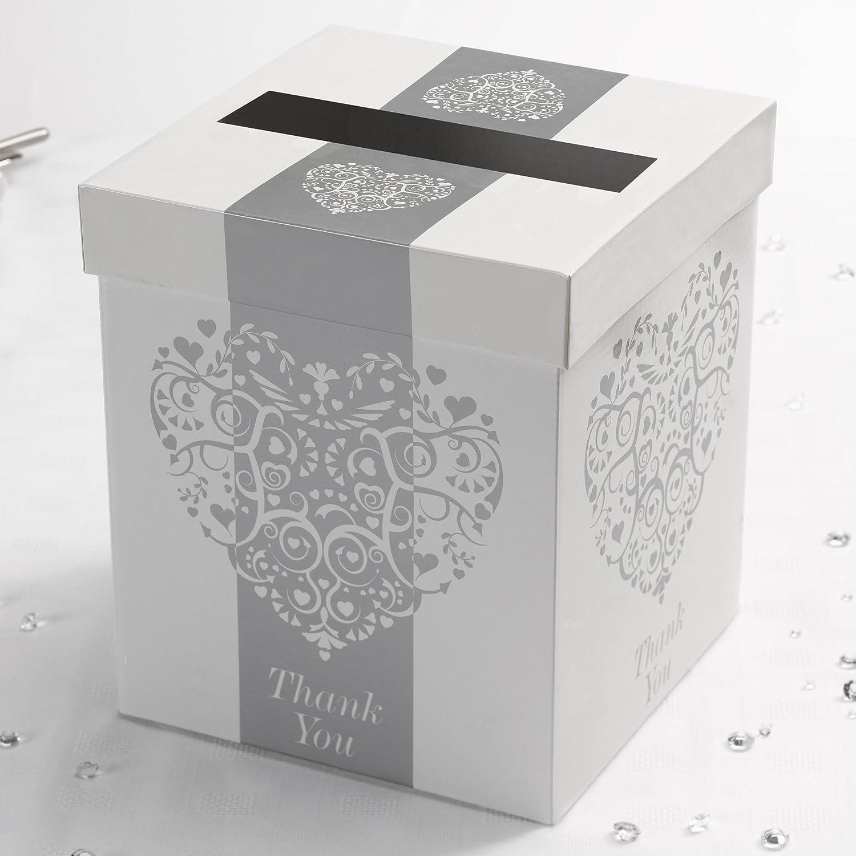 Neviti CSC Imports Juego Vintage Romance buzón de Correos, Papel, Plata, 21 x 21 x 25 cm: Amazon.es: Hogar