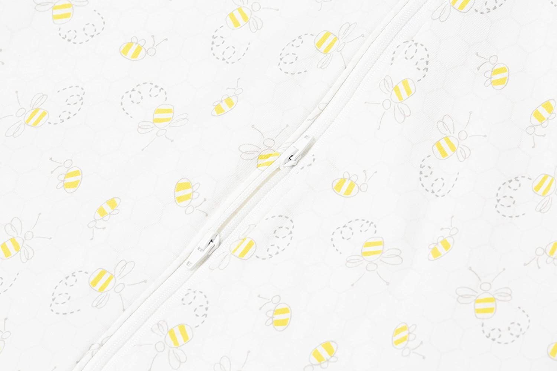 ERGObaby SLBMDBEE1 Ganzejahres Baby-Schlafsack mit F/ü/ßen Gurtschlitz 6-18 Monate Baumwolle TOG 1 Sommer Winter On The Move mehrfarbig