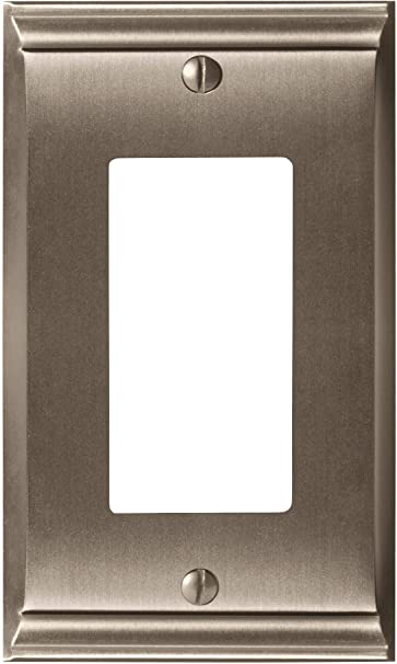 Amerock Bp36504g10 Candler 1 Rocker Wall Plate Satin Nickel