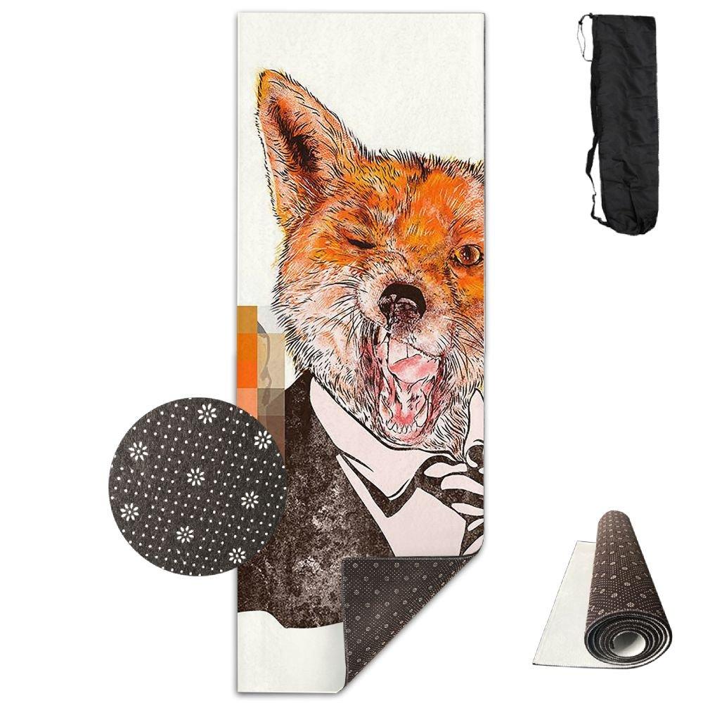 滑らないヨガマット 周期表 プレミアムプリント 24 x 71インチ エクササイズ ピラティス 体操 キャリーストラップ One Size Funny Fox Pop B078W95VMZ