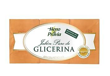 Heno De Pravia - Pastilla de jabón glicerina 3 x 125 g: Amazon.es: Belleza