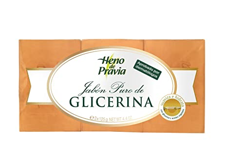 Heno De Pravia - Pastilla de jabón glicerina 3 x 125 g