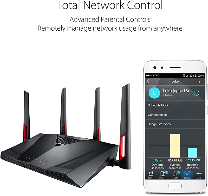 ASUS Dual-Band Gigabit WiFi Gaming Router (AC3100) with MU-MIMO