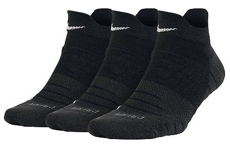 Nike W NK Dry Cush Low 3PR Socks, Mujer, Negro/Antracita/Blanco