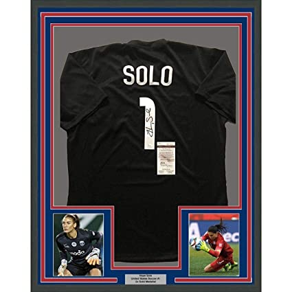 2a79c20e859 Hope Solo Signed Jersey - FRAMED 33x42 Black USA COA - JSA Certified - Autographed  Soccer Jerseys at Amazon s Sports Collectibles Store