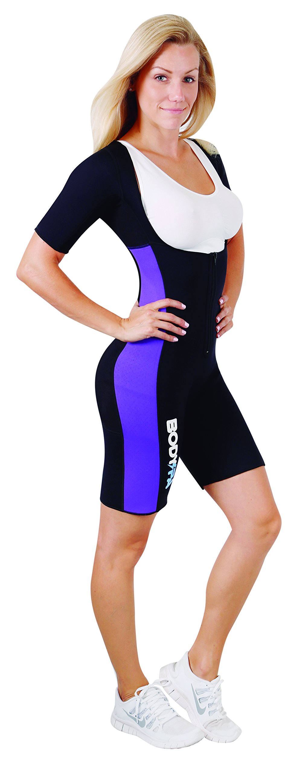 Body Spa Light Body Sauna Suit Neoprene Full Body Shaper Gym Sport Aerobic (Purple, Medium) 13832