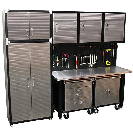 Astounding Seville Classics Hd 9 Piece Standard Garage Storage System Spiritservingveterans Wood Chair Design Ideas Spiritservingveteransorg
