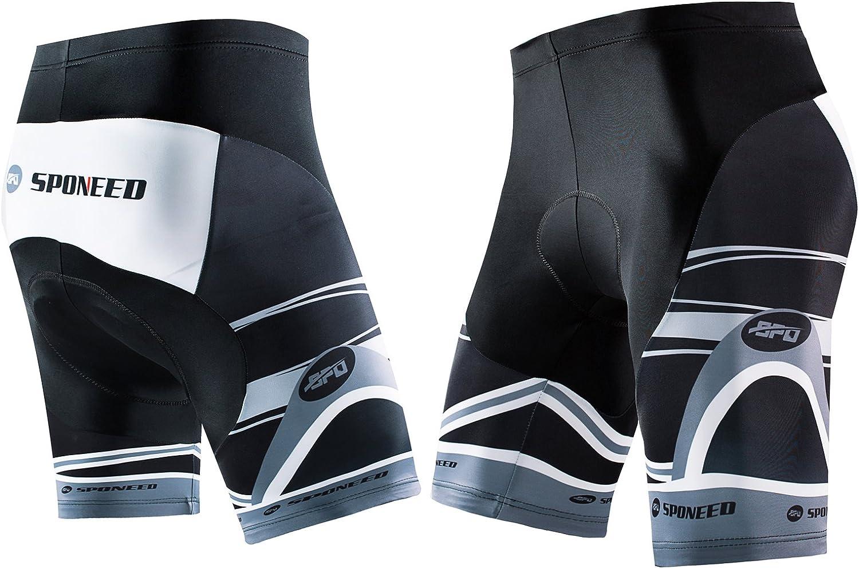sponeed Men's Cycle Shorts Biking Pants Gel Padding Bicycle Ride Bottoms for Road Bikie MTB : Clothing