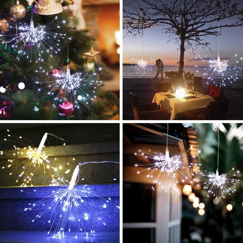 Feuerwerk Lichterketten Starburst Lichter 120 LED Lichterkette Haus Garten 2pcs